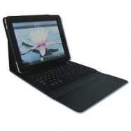 iPad Compatible Wireless Bluetooth Keyboard with Leather Bag