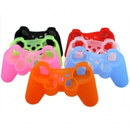 PlayStation 3 Compatible Silicone Controller Skin-Color Red